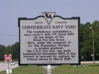 Confederate Navy Yard Marker image. Click for full size.