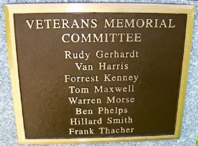 Boonville Veterans Memorial Committee image. Click for full size.