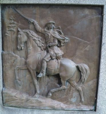 Relief of Gen. Custer image. Click for full size.