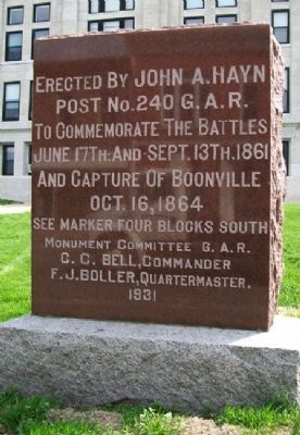 Capture of Boonville Monument image. Click for full size.
