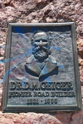 Dr. D.M. Geiger Monument Located at the Geiger Lookout image. Click for full size.