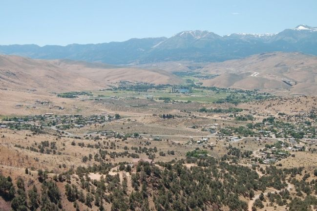 Panorama of Truckee Meadows from the Geiger Lookout, #1 image. Click for full size.