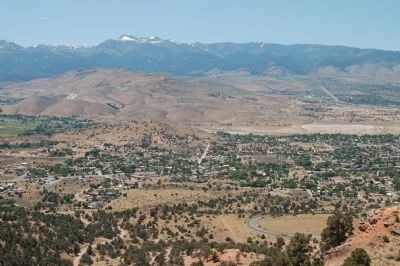 Panorama of Truckee Meadows from the Geiger Lookout, #2 image. Click for full size.