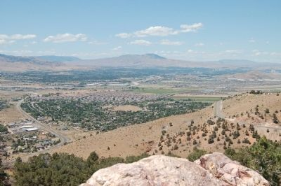 Panorama of Truckee Meadows from the Geiger Lookout, #4 image. Click for full size.