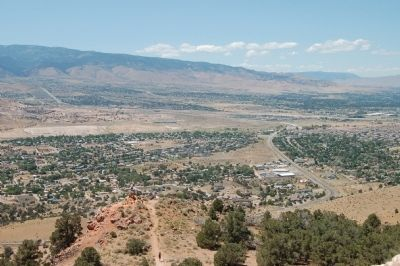 Panorama of Truckee Meadows from the Geiger Lookout, #3 image. Click for full size.