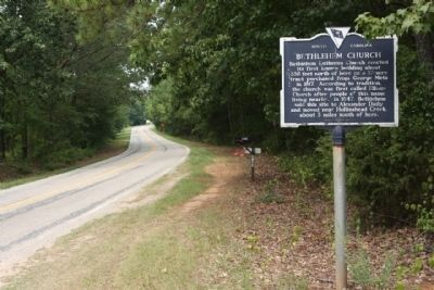 Bethlehem Church Marker, seen looking north along Kennerly Road image. Click for full size.