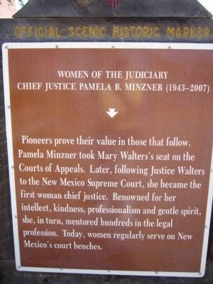 Chief Justice Pamela B. Minzner Marker image. Click for full size.