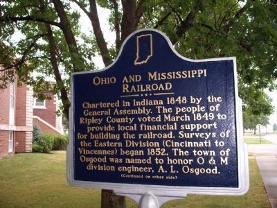 Side 'One' - - Ohio and Mississippi Railroad Marker image. Click for full size.