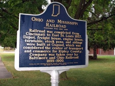 Side 'Two' - - Ohio and Mississippi Railroad Marker image. Click for full size.