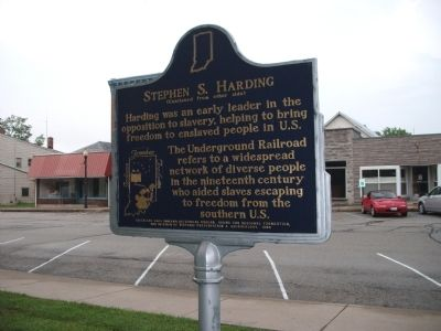 Side 'Two' - - Stephen S. Harding Marker image. Click for full size.