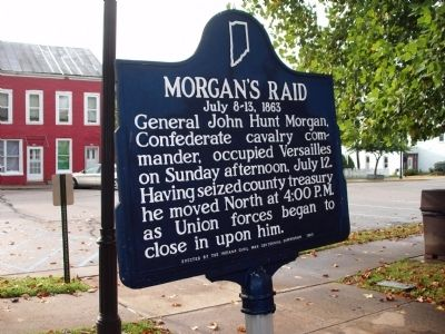 Obverse Side - - Morgan's Raid Marker image. Click for full size.