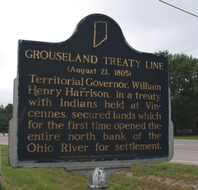 Grouseland Treaty Line Marker image. Click for full size.