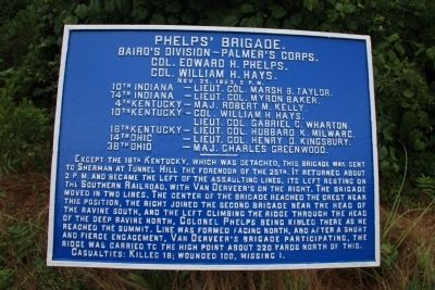 Phelps' Brigade Marker image. Click for full size.