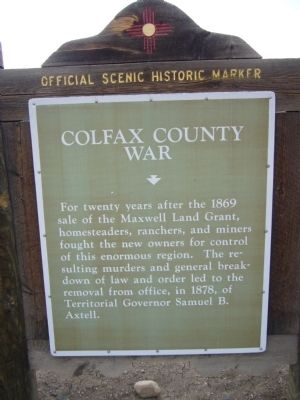 Colfax County War Marker image. Click for full size.