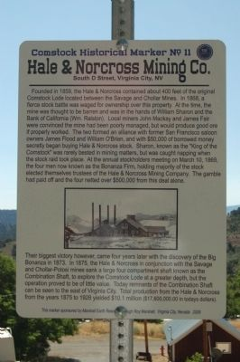 Hale & Norcross Mining Co. Marker image. Click for full size.