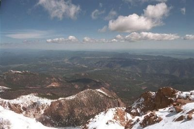 Looking Westward, from summit of Pikes Peak image. Click for full size.