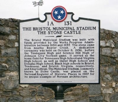 The Bristol Municipal Stadium Marker image. Click for full size.