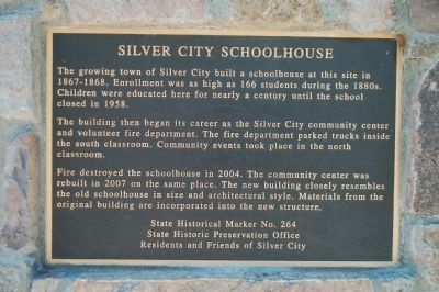 Silver City Schoolhouse Marker image. Click for full size.