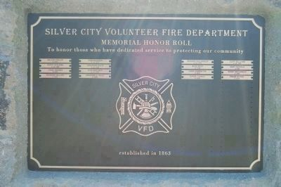 Silver City Volunteer Fire Department Memorial Honor Roll image. Click for full size.