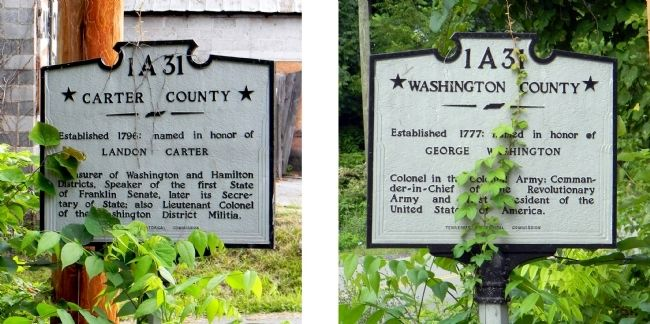 Carter County / Washington County Marker image. Click for full size.
