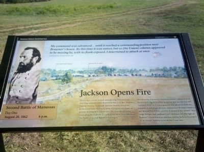 Jackson Opens Fire Marker image. Click for full size.