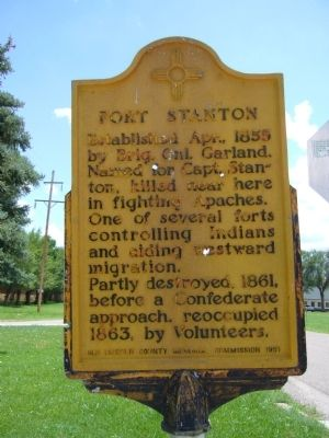 Fort Stanton Marker image. Click for full size.