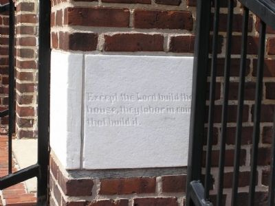 Dedication stone facing E Church Street image. Click for full size.