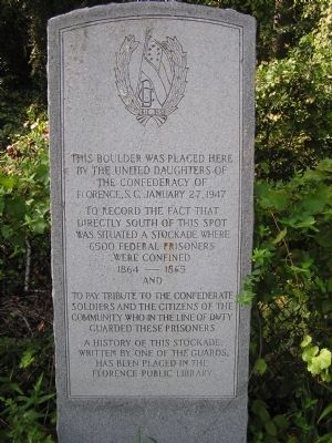 Florence Stockade Monument Marker image. Click for full size.