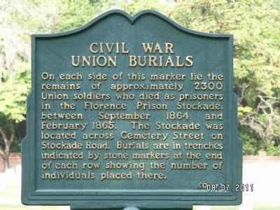 Civil War Union Burials Marker image. Click for full size.