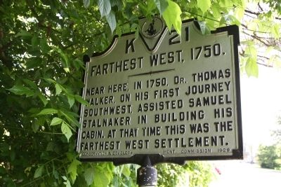 Farthest West, 1750 Marker image. Click for full size.