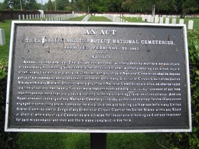 An Act to establish and protect National Cemeteries. image. Click for full size.