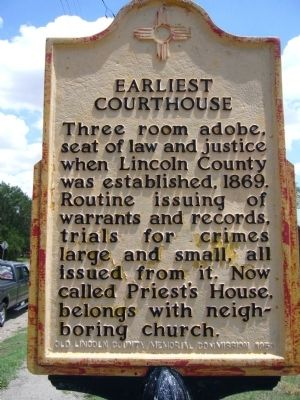Earliest Courthouse Marker image. Click for full size.