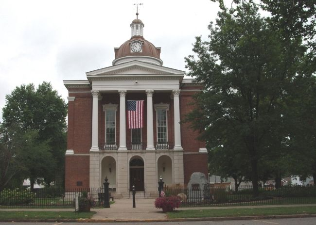 Front - - Switzerland County Courthouse - Vevay, Indiana image. Click for full size.