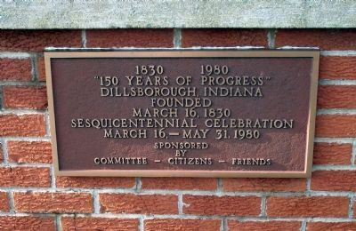 Sesquicentennial - - Plaque image. Click for full size.