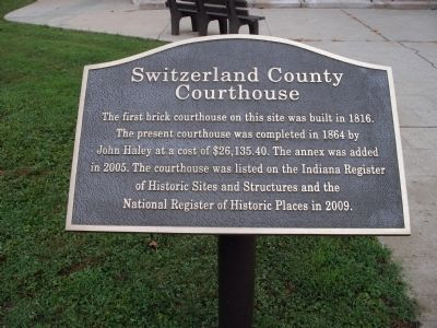 Switzerland County Courthouse Marker image. Click for full size.