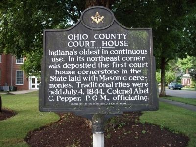Ohio County Court House Marker image. Click for full size.