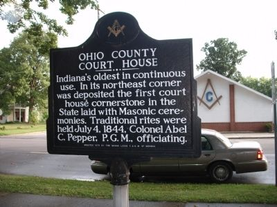 Obverse Side - - Ohio County Court House Marker image. Click for full size.