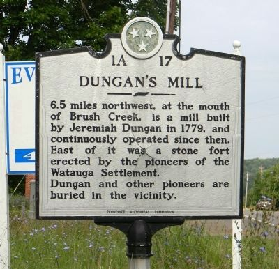 Dungan's Mill Marker image. Click for full size.