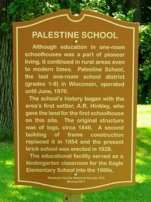Palestine School Marker image. Click for full size.