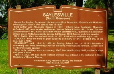 Saylesville Marker image. Click for full size.