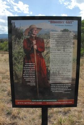 Bloomer Girl; A Colorado Trailblazer Marker image. Click for full size.