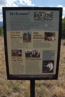 Rock Ledge Ranch Historic Site Marker image. Click for full size.