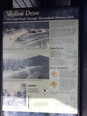 Skyline Drive Marker image. Click for full size.