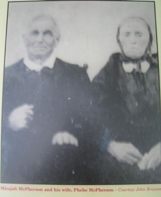 Micajah McPherson and his wife, Phebe McPherson image. Click for full size.