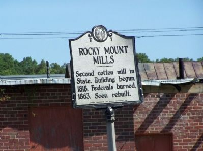 Rocky Mount Mills Marker image. Click for full size.