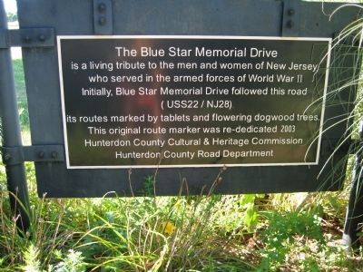 Reverse side of Blue Star Memorial Drive sign image. Click for full size.