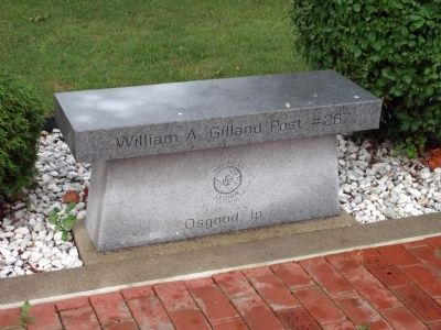 Bench - - William A. Gilland Post 267 - Osgood, In. image. Click for full size.