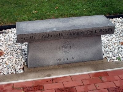 Bench - - Smith - Ashcraft - Kissell Post 235 - Milan, In. image. Click for full size.