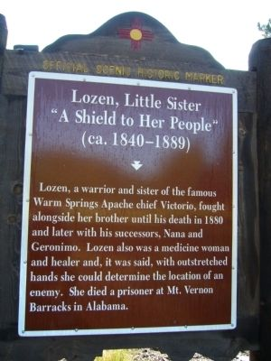 Lozen, Little Sister Marker image. Click for full size.