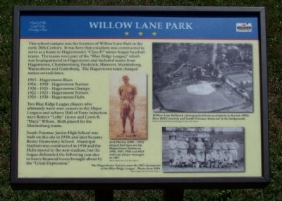 Willow Lane Park Marker image. Click for full size.